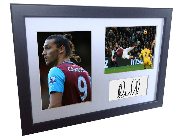 Andy Carroll. Signed West Ham Photo Photograph Picture Frame. Autographed