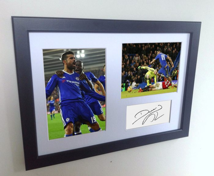 Diego Costa. Signed Chelsea Photo Photograph Picture Frame. Autographed Reprint.