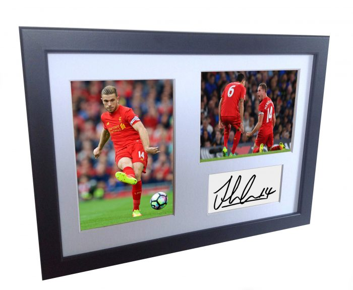 Jordan Henderson. Signed Liverpool Photo Photograph Picture Frame. Autographed Reprint.