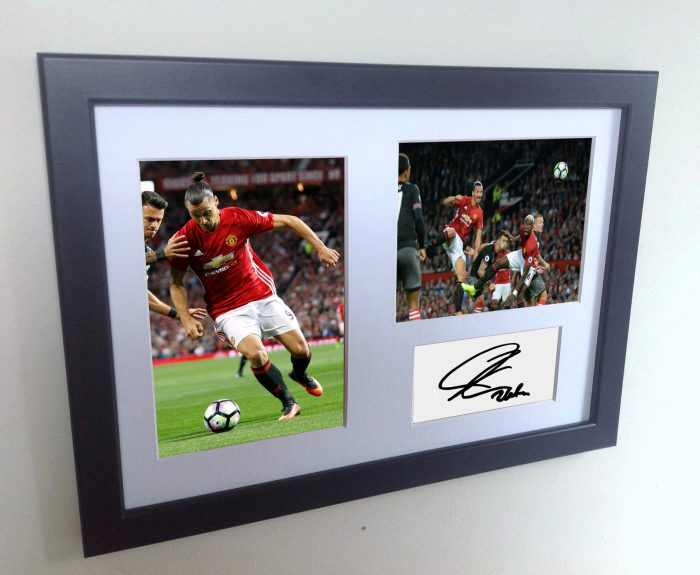 Zlatan Ibrahimovic. Signed Manchester United Photo Photograph Picture Frame. Autographed