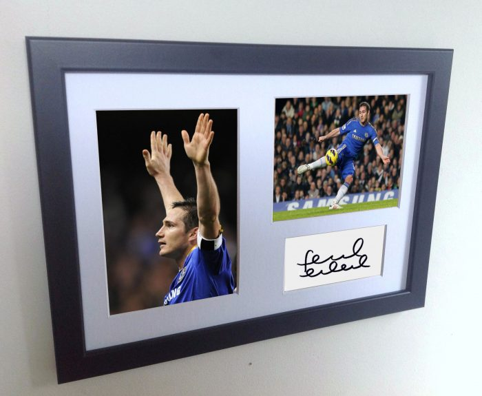 Frank Lampard. Signed Chelsea Photo Photograph Picture Frame. Autographed Reprint