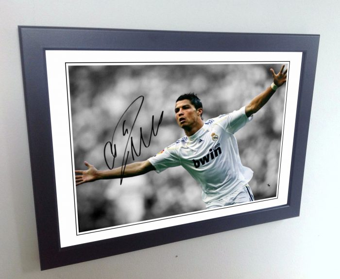 Cristiano Ronaldo. Signed Real Madrid Photo Picture Photograph Frame. Autographed