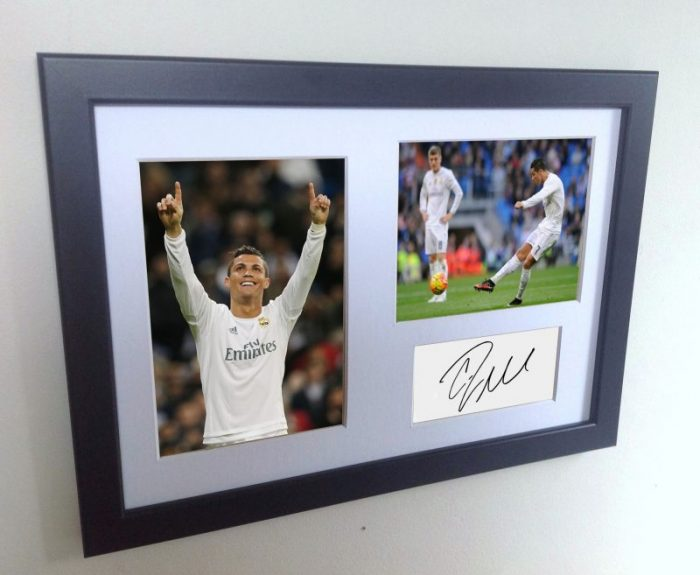 Cristiano Ronaldo Signed Real Madrid Photo Photograph Picture