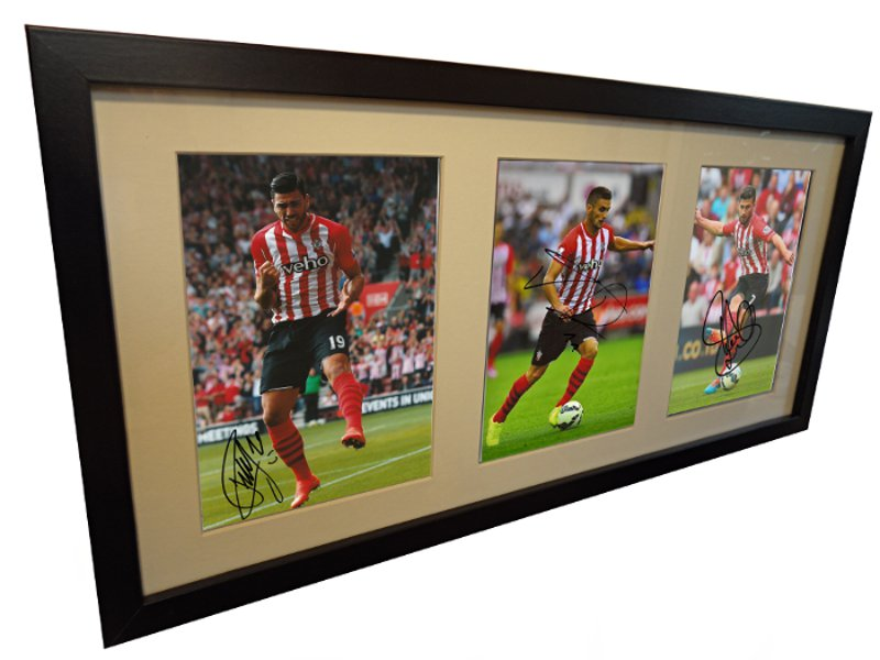 Dusan Tadic, Graziano Pelle, Shane Long. Signed Southampton Photo Photograph Picture
