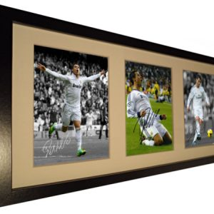 Cristiano Ronaldo. Signed Real Madrid Photo Photograph Picture Frame. Black or White. Autographed.