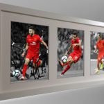 Adam Lallana, Philippe Coutinho, Firmino. Signed Liverpool Photo Picture Frame.