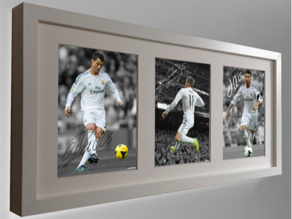 Cristiano Ronaldo, Gareth Bale, Sergio Ramos. Signed Real Madrid Photo Photograph Picture.