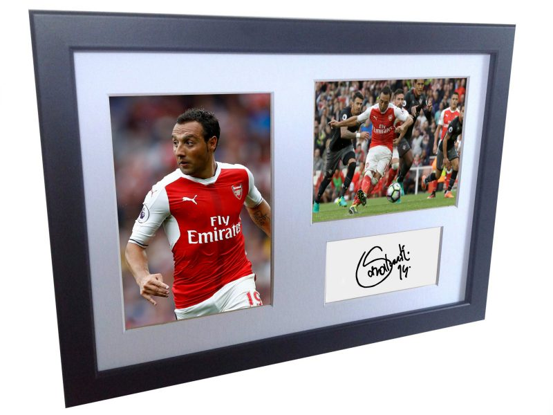 Santi Cazorla. Signed Arsenal Photo Photograph Picture Frame. Autographed Reprint.