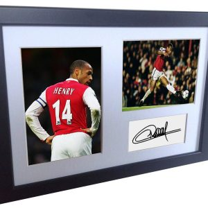 Thierry Henry. Signed Arsenal Photo Photograph Picture Frame. Autographed Reprint. A4 Size (12 x 8).