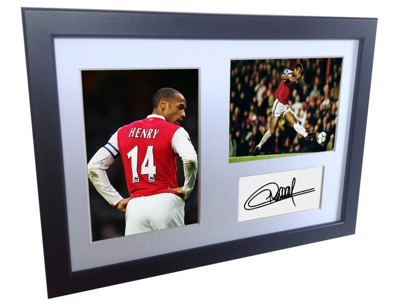 Thierry Henry. Signed Arsenal Photo Photograph Picture Frame. Autographed Reprint.