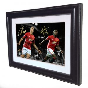 Zlatan Ibrahimovic Paul Pogba. Signed Manchester United Photo Picture Photograph Frame. Autographed Reprint. 6×4.