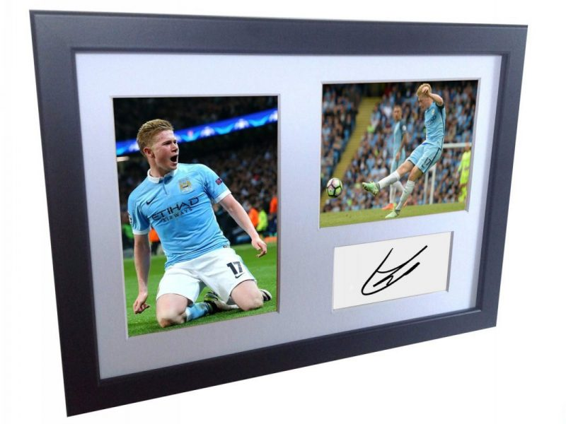 Kevin De Bruyne. Signed Manchester City Photo Photograph Picture Frame. Autographed Reprint.