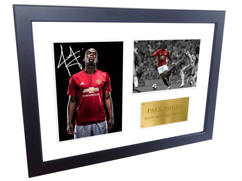 Paul Pogba. Signed Manchester United Photo Photograph Picture Frame. Autographed Reprint. A4 Size (12 x 8).