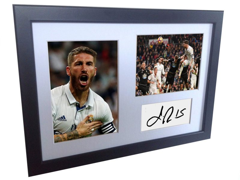 Sergio Ramos. Signed Real Madrid Photo Photograph Picture Frame. Autographed Reprint.
