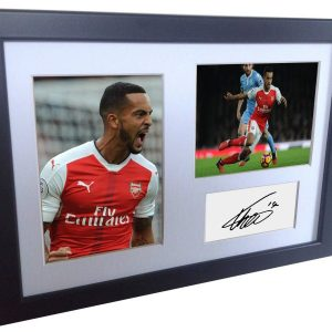 Theo Walcott. Signed Arsenal Photo Photograph Picture Frame. Autographed Reprint. A4 Size (12 x 8).