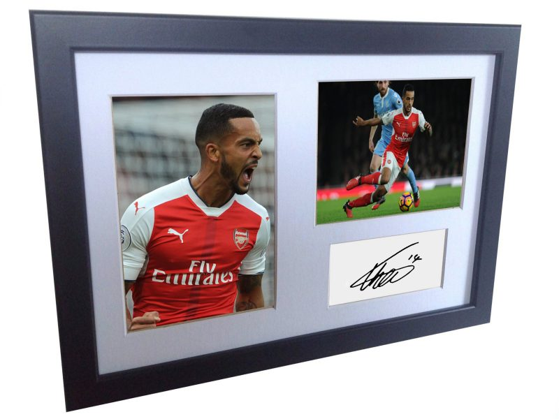 Theo Walcott. Signed Arsenal Photo Photograph Picture Frame. Autographed Reprint.