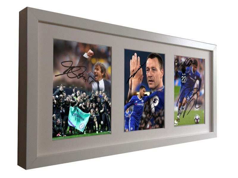 Conte Terry Hazard Willian Costa. Signed Chelsea Photo Picture Frame.