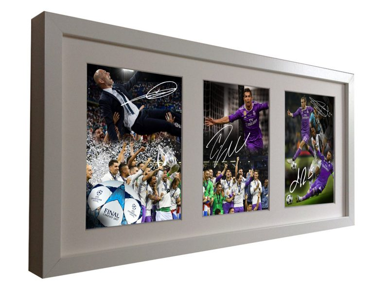 Zidane Ronaldo Bale Ramos. Signed real Madrid Photo Picture Frame