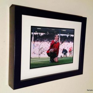 Eric Cantona Last Goal. Signed Manchester United Photo Picture Photograph Frame. Autographed Reprint. 7×5.