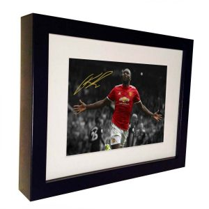 Romelu Lukaku. Signed Manchester United Photo Picture Photograph Frame. Autographed Reprint. 7×5.