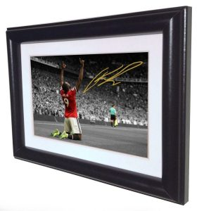 Romelu Lukaku. Signed Manchester United Photo Picture Photograph Frame. Autographed Reprint. 6×4.