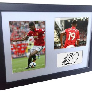 Marcus Rashford. Signed Manchester United Photo picture photograph Frame. Autographed Reprint. A4 Size (12 x 8).