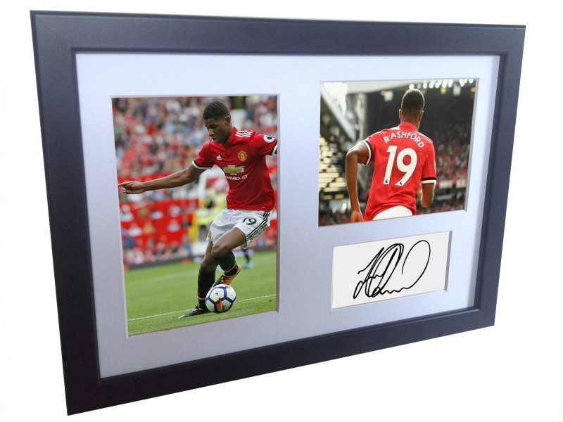 Marcus Rashford. Signed Manchester United Photo picture photograph Frame. Autographed