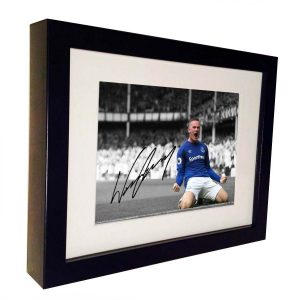Wayne Rooney Signed Everton Photo Picture Photograph Frame. Autographed Reprint. 7×5.