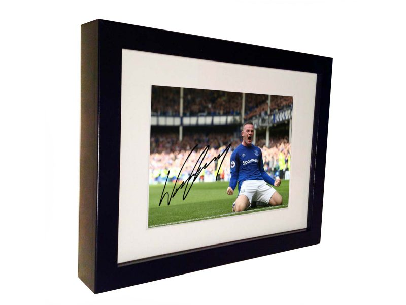 Wayne Rooney Signed Everton Photo Picture Photograph Frame. Autographed Reprint.
