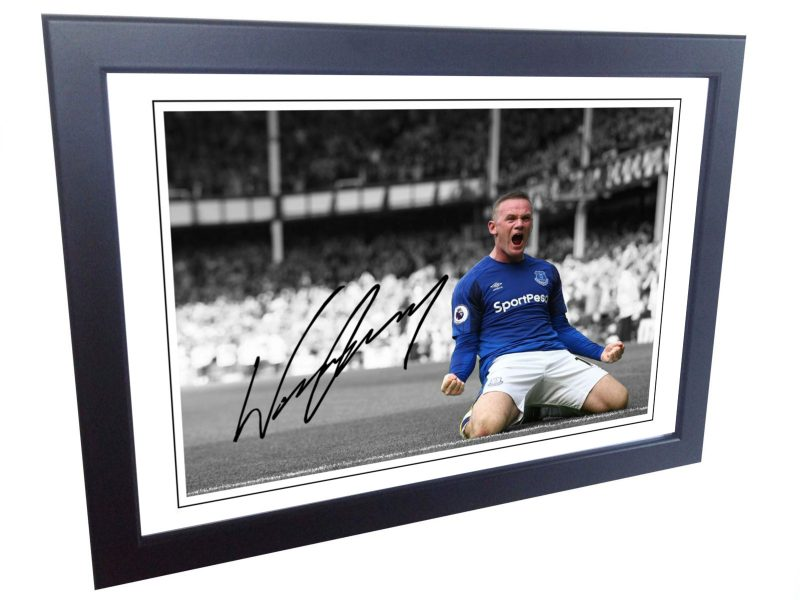 Wayne Rooney. Signed Everton Photo Picture Photograph Frame. Autographed Reprint.