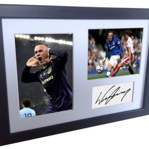 Wayne Rooney. Signed Everton Photo Photograph Picture Frame. Autographed Reprint. A4 Size (12 x 8).