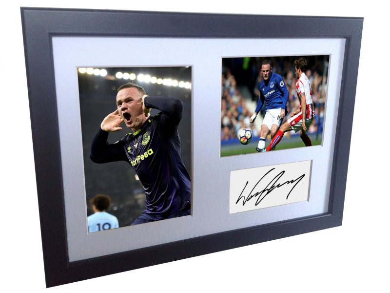 Wayne Rooney. Signed Everton Photo Photograph Picture Frame. Autographed Reprint.
